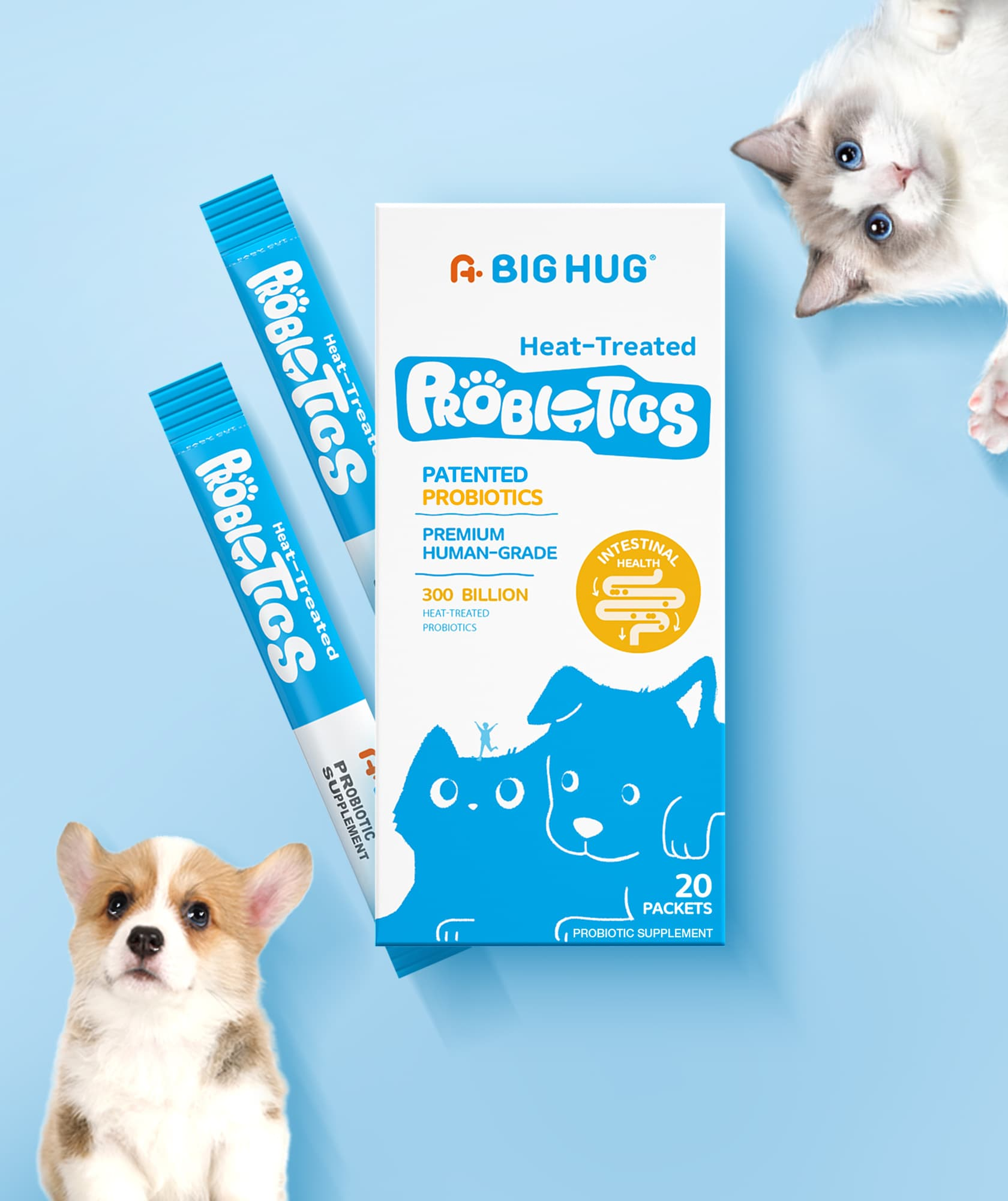 A Big Hug® Introduces Heat-Treated Probiotics for Cats and Dogs