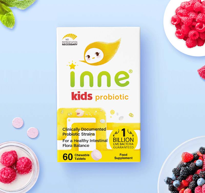 Inne® Introduces Kids Probiotic Chewable Tablets